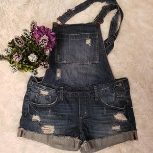 Garage distressed jean shorts / overalls, size 11
